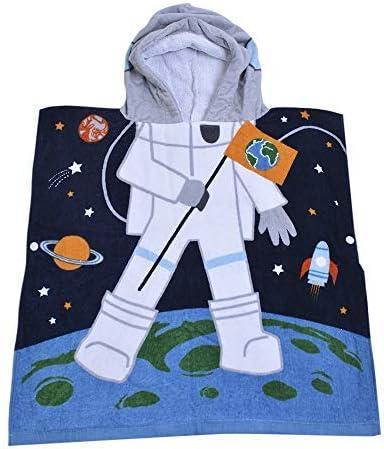 Kids Hooded Beach Bath Towel Poncho for Toddler Infant Boys Cute Soft Cartoon Swim Towels Wrap with Hood for Girls mermaid01, 2-7 Years