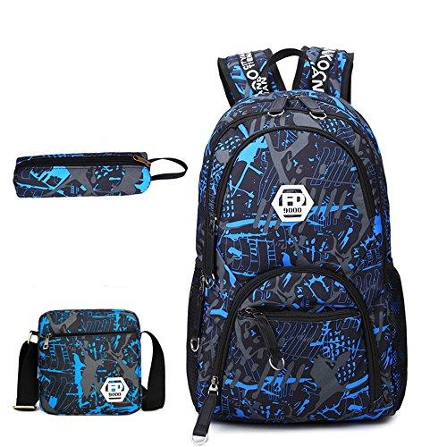 Travel School Shoulder Suitable Xiaoqin Cloth In Waterproof Bag Men's Leisure 3 Oxford 1 Set qBpHPxwq