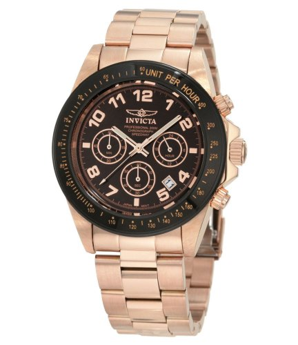 Rose Gold Speedway (Invicta Men's 10706 Speedway Chronograph Brown Dial 18k Rose Gold Ion-Plated Stainless Steel Watch)
