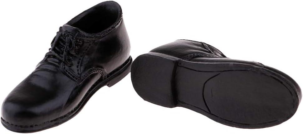Bonarty Chaussures en Cuir Noir /à L/échelle 1//6 pour Pi/èces De Jouets De 12  Phicen Kumik Hot Toys