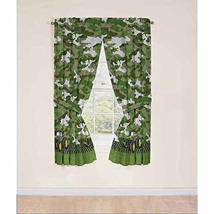 John Deere Curtains Panels Drapes, Green Tractor