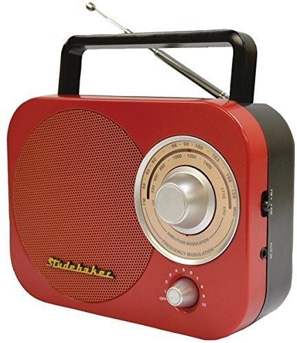 Studebaker Portable Am/FM Radio in Red Stud-Sb2000 Jensen STUD-SB2000RB Accessory Consumer Accessories