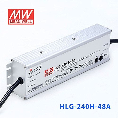 Meanwell HLG-240H-48A Power Supply - 240W 48V 5A - IP65 - Adjustable Output