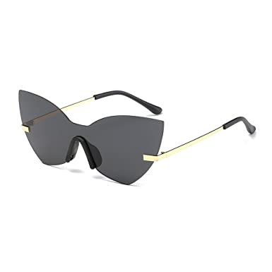 45033581592 MINCL One Piece Mirrored sunglasses