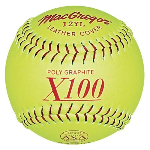 MacGregor ASA Fast Pitch Softball, 12-inch (One Dozen) (Macgregor Leather)