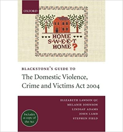 Blackstone's Guide to the Domestic Violence, Crime and Victims Act 2004 (Blackstone's Guides)- Common