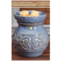 "Hosley 6"" High Blue Ceramic Electric Warmer. Ideal Gift for Wedding, Spa, Aromatherapy. Use with Brand Wax Melts/Cubes, Essential Oils and Fragrance Oils. O3"