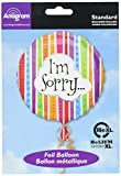 Anagram International I'm Sorry Colorful Lines Package Balloon, 18""