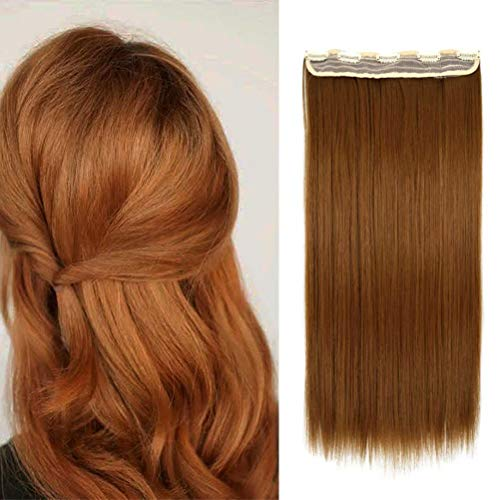 iLUU 5 Clips in Hair Extensions Synthetic Straight