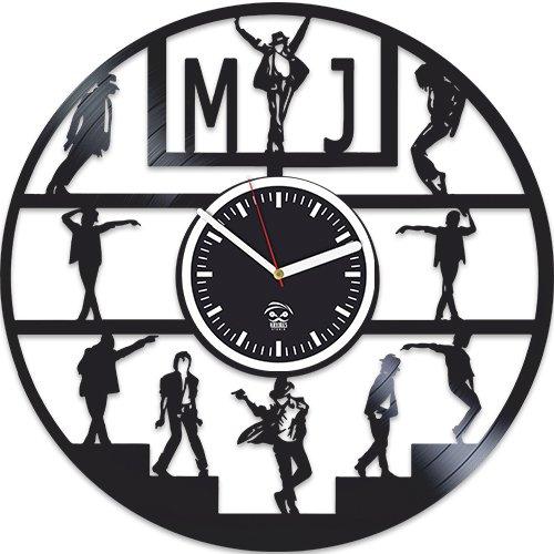 (Moonwalker Vinyl Wall Clock, Michael Jackson Clock, Best Gift For Musician, Vinyl Record, Kovides, Valentines Day Gift For Men, Silent Mechanism, Wall Clock Modern, Michael Jackson Birthday Gift)