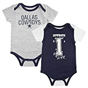 Dallas Cowboys Baby Emilio Multi Combo Onesie Set
