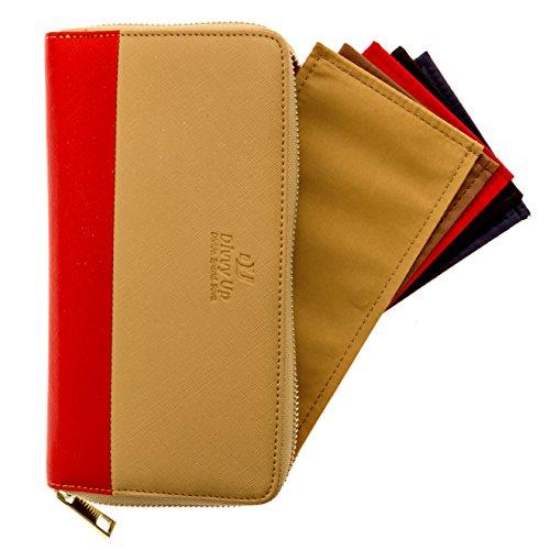 The Great Divide by Divvy Up, 2017 Collection - A Cash Envelope & Wallet System with 5 Magnetic Cash Envelopes (Red) - Zipper Cash Envelopes