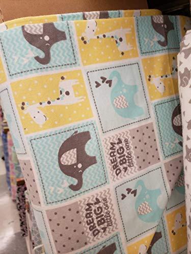 Tiled Dream Big Safari Flannel