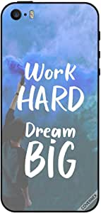 Case For iPhone 5s Work Hard Dream Big Colors