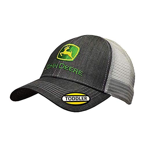 John Deere Toddler/Kids Mesh Back Cap (Charcoal/Grey)