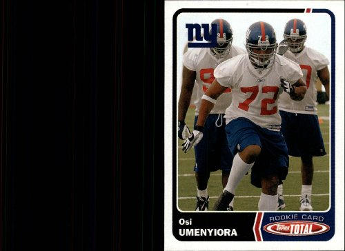 (2003 Topps Total Football Rookie Card #464 Osi Umenyiora)