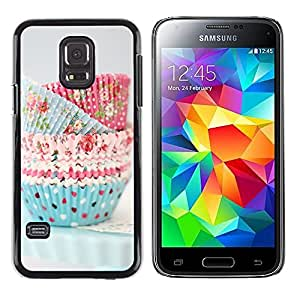 LECELL--Funda protectora / Cubierta / Piel For Samsung Galaxy S5 Mini, SM-G800, NOT S5 REGULAR! -- Cupcake Cooking Chef Pastry Polka Dot --