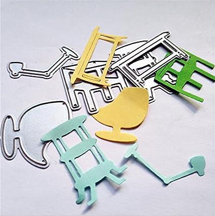 Amazoncom Furniture Ball Chair Metal Stencil Cutting Die For