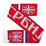 Serbia Soccer Knit Scarf