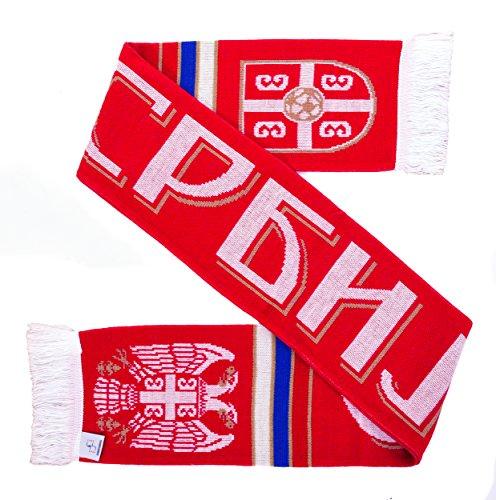 Serbia Soccer Knit Scarf by Serbia