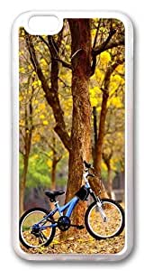 Bike In The Park TPU Case Cover for iPhone 6 4.7inch Transparent