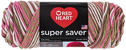 Red Heart  Super Saver Economy Yarn, Pink Camo (Pink Camo Baby Yarn)