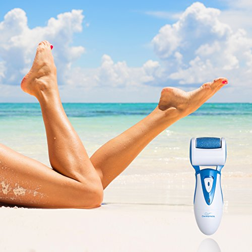 Electric Callus Remover: Rechargeable Electronic Foot File CR900 by Own Harmony(Tested Most Powerful) Best Pedicure Tools w 3 Rollers-Reg & Extra Coarse, Professional Pedi Feet Care for Cracked Heels by Own Harmony (Image #7)
