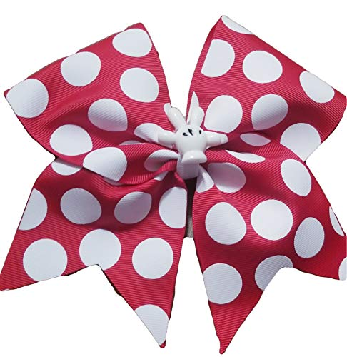 Cheer Bows Polka dots Minnie Mouse with Mickey Hand Hair -