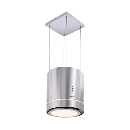Klarstein Tron Ambience campana extractora • Extractor de humos aislado • Ø 38cm • Potencia de