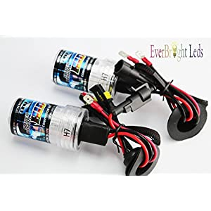 EverBright New H7 Car HID Head Light (12V,35W) 6000K Bright white light Xenon Super Vision HID Head Lamp Conversion Kit Replacement Light Bulbs - One Pair