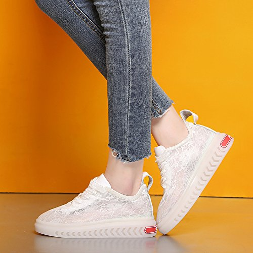 Zapatos Blanco los los Casuales Verano Zapatos de con la del Respirables Moda Zapatos Mujeres de 38 Los Paño de SBL los Seda del Zapatos Las brotan de zwTqc4