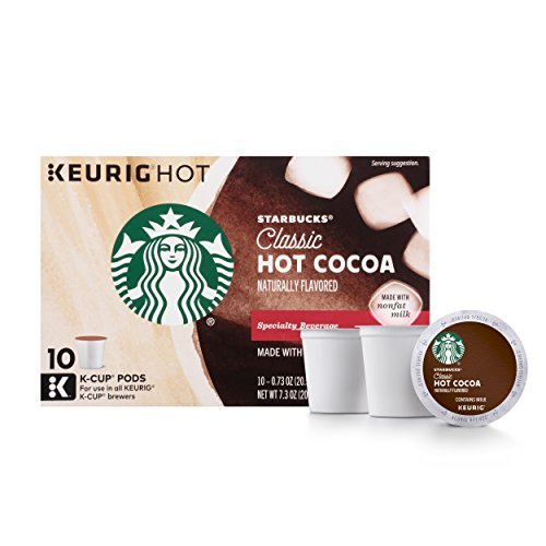 Caramel Chocolate Hot Chocolate - Starbucks Classic Hot Cocoa K-Cup for Keurig Brewers, 6 Boxes of 10 (60 Total K-Cup pods)