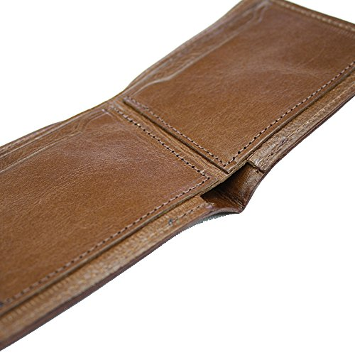 wallet Natural Leather Natural Folded Khaki Tanned Tanned w6xXqPnR