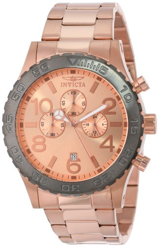 Invicta Men's 15161 Specialty Chronograph Rose Gold Plated Stainless Steel Watch (Rose Gold Plated Watch)