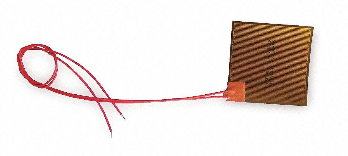 Industrial Grade 3CDD7 Polymide Flex Heater, Elec, 1.5A, 115V