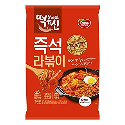 Amazon Com Dongwon God Of Tteokbokki Ramen Tteokbokki Stir Fried Rice Cake Korean Food Korean Tteokbokki Instant Cooking Food Asian Dishes Overseas Direct Shipment Grocery Gourmet Food