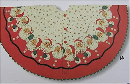 moda home vintage christmas tree skirt retro santa - Vintage Christmas Tree Skirt