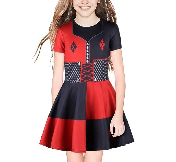 Vestido para niñas niños Traje de Suicidio Harley Quinn Vestido ...