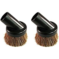 2 Deluxe Universal Replacement Dusting Dust Brushes Black 1 1/4 Natural Bristle