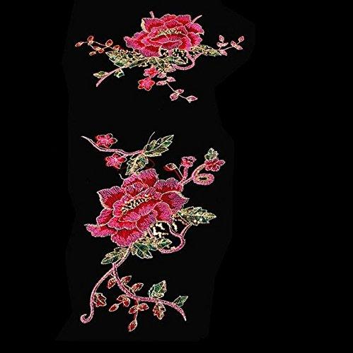 Blumen auf kleid nahen