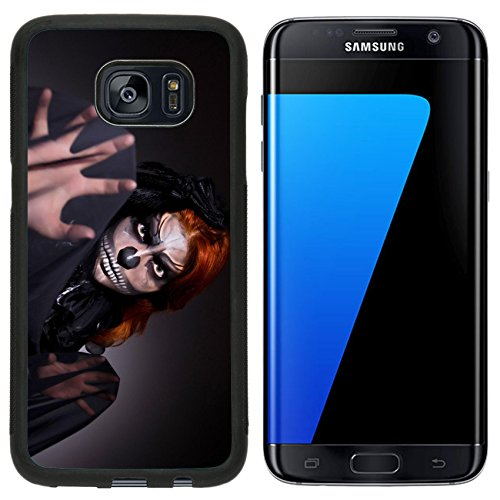 T Mobile Girl Halloween Costume (Luxlady Premium Samsung Galaxy S7 Edge Aluminum Backplate Bumper Snap Case IMAGE ID: 26717790 Scary monster in dark room)