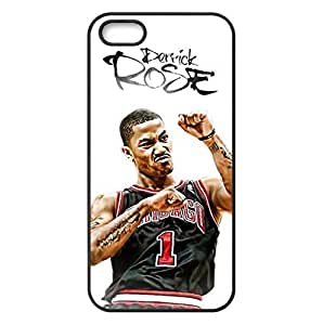 iPhone 5/5s TPU Case with Chicago Bulls Derrick Rose Image Background Design-by Allthingsbasketball