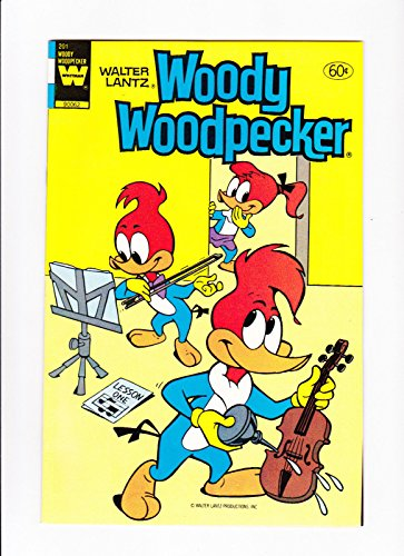 Woody Woodpecker Art - Woody Woodpecker No.201 1983 Violin Lesson Cover