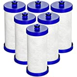 AquaCrest WF1CB Refrigerator Water Filter Replacement for WF1CB, WFCB, RG100, NGRG2000, WF284, 9910, 469906, 469910, Refrigerator Water Filter (Pack of 6)