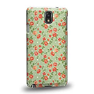 Case88 Premium Designs Art Flower Spring haze Pattern Protective Snap-on Hard Back Case Cover for Samsung Galaxy Note 3