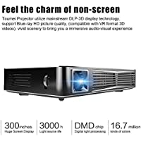 NewPal C800 DLP Projector Android 1080P 4200mAh Rechargeable 2.4G/5G WiFi Bluetooth 4.0 HDMI USB TF for Home Theater Business