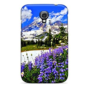 Slim Fit Tpu Protector Shock Absorbent Bumper Spring Mountains Case For Galaxy S4