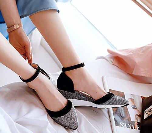 Pailletteschaussures Aisun Femme Mode Femme Compens Mode Aisun wxX6zUq