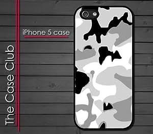 iPhone 5 Rubber Silicone Case - Arctic Digi Camo camoufladge snow by runtopwell