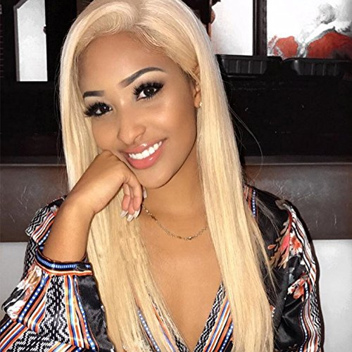 EEWIGS Lace Front Wigs Synthetic Long Straight Blonde Wig for Women -